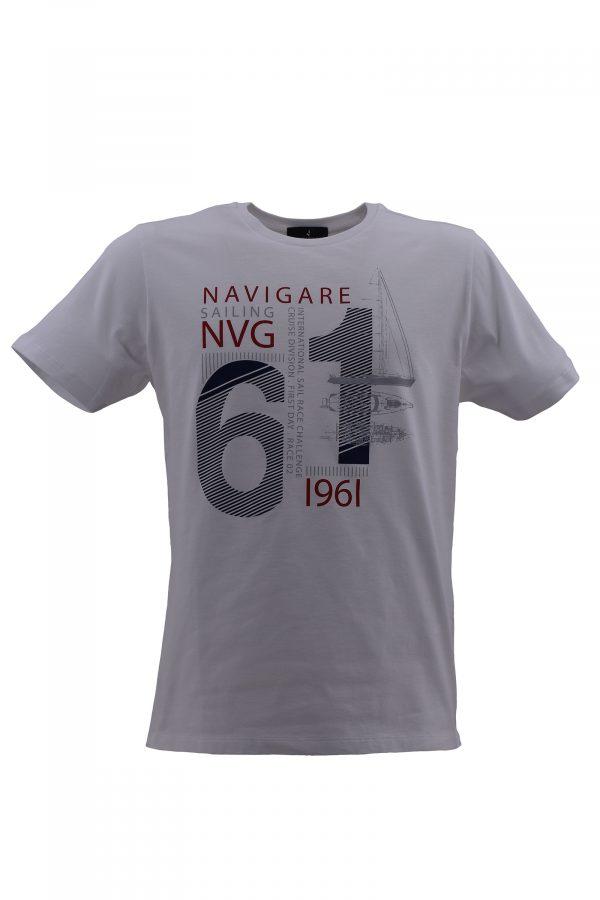 NAVIGARE majica - NV0p31111 - BELA