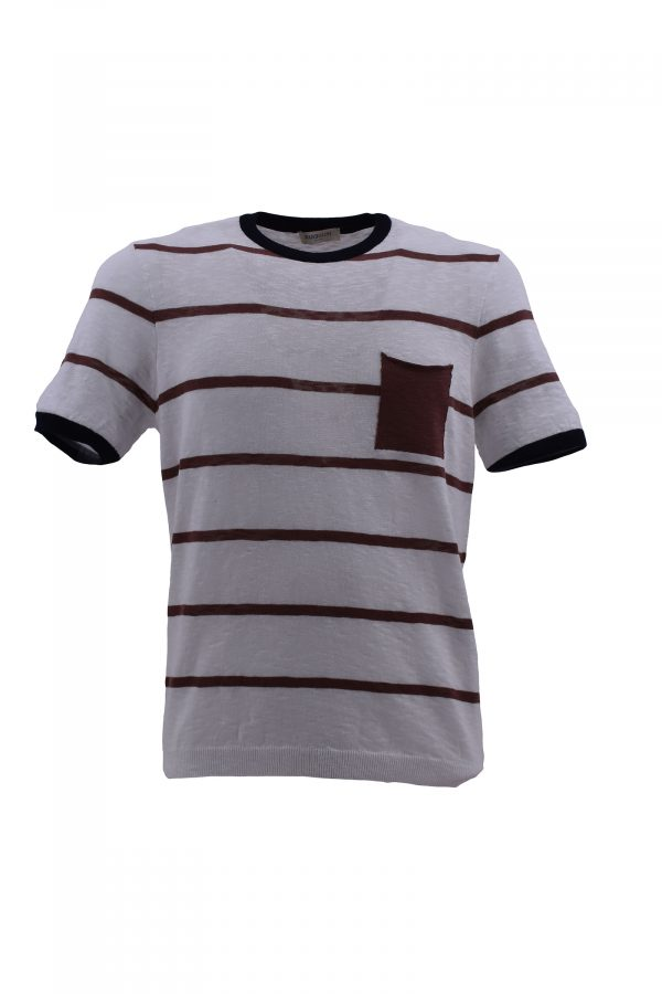 BARBOLINI majica - B0pGIRO1438 - BELA/BRAON