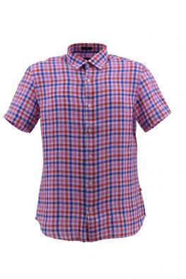 NAVY SAIL košulja - NS9P92176CLMM - ROZE-KARO
