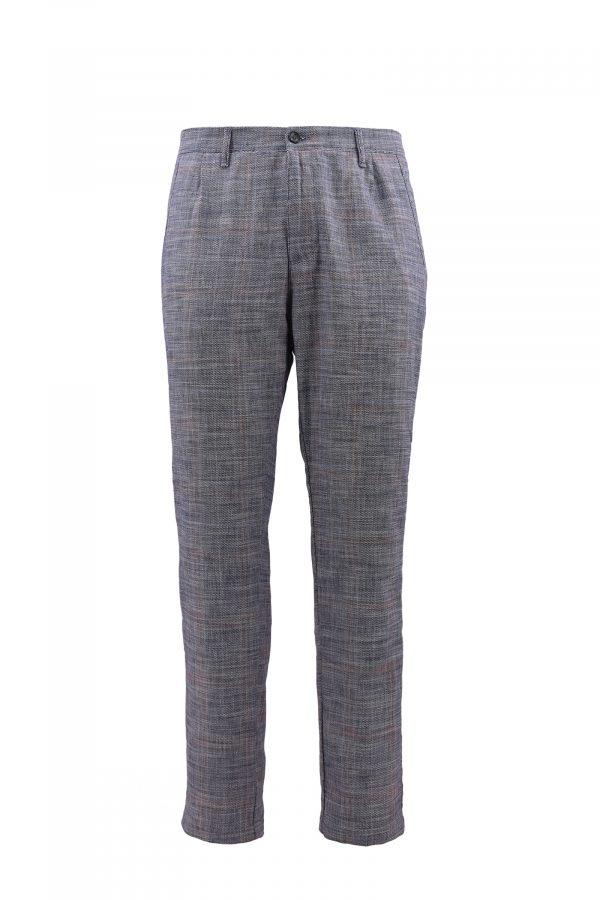 BARBOLINI pantalone - B1pBELGRADO - PLAVA-KARO