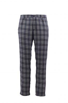 BARBOLINI pantalone - B1pATENE - SVETLO-PLAVA-KARO