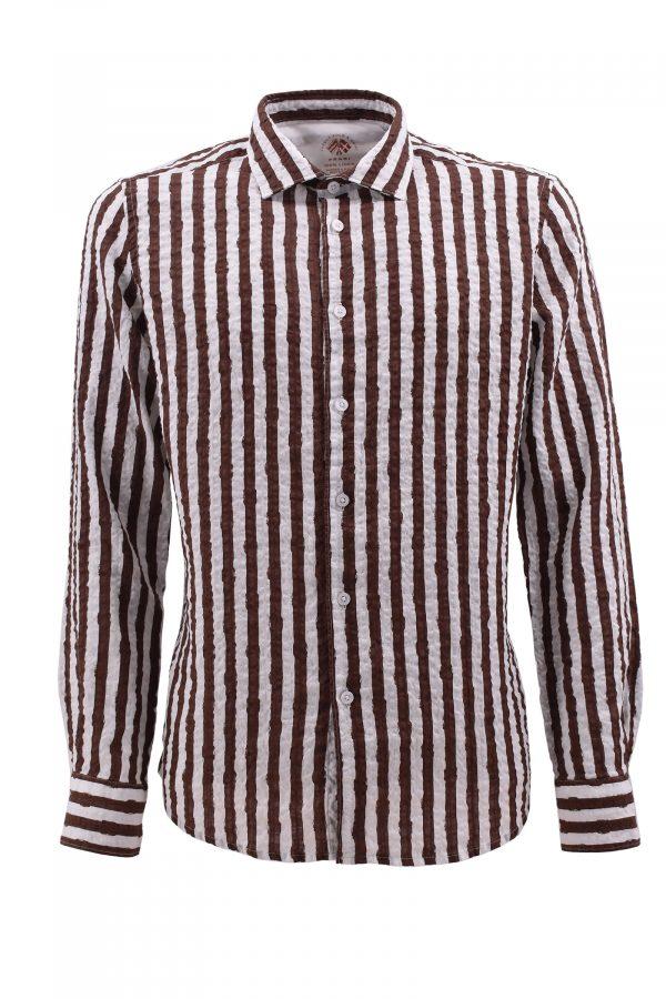 FRADI košulja - 1pC650_LN5380 - BRAON