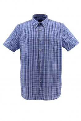 NAVIGARE košulja - NV1p869ET08MM - PLAVA-KARO