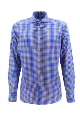 BARBOLINI košulja - B1zEDN4201 - PLAVA-KARO