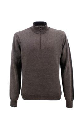 NAVIGARE COLLEZIONI džemper - N1zLUPZIPFM40OS - BRAON