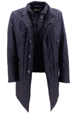 BARBOLINI jakna - B1zPIN196 - TAMNO-SIVA