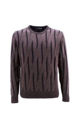 BARBOLINI džemper - B1zSPESA80 - SVETLO-BRAON