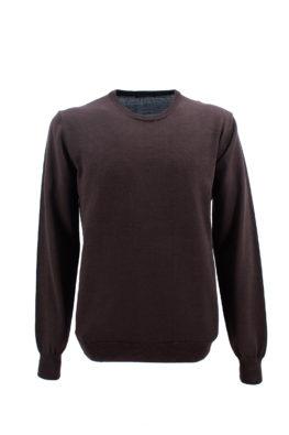 NAVIGARE COLLEZIONI džemper - N1zGIROFM80OS - BRAON